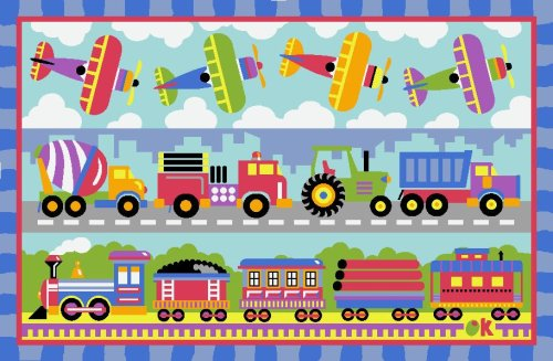 LA Rug Trains, Planes & Trucks Rug 19