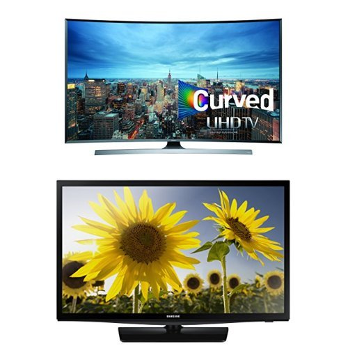 Samsung UN55JU7500 Curved 55-Inch 4K Ultra HD TV with Free 24-Inch TV
