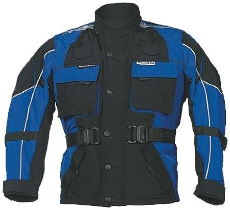 Roleff Racewear 431KL Blouson Moto pour Enfants, Noir/Bleu, L/152