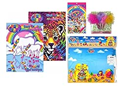 Lisa Frank Coloring Activity Book with Dry Erase Board, Stickers & Glitzy Pens
