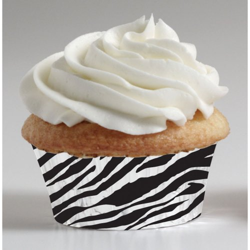 Zebra Mini Muffin Cups Party Accessory
