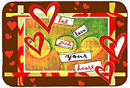 Caroline\'s Treasures PJC1113JCMT Let Love Guide Your Heart Valentine\'s Day Kitchen or Bath Mat, 24 by 36\