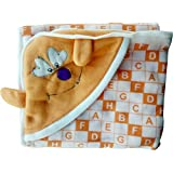 Fancyadda Baby Wrapper For New Born With Hood - Orange Color