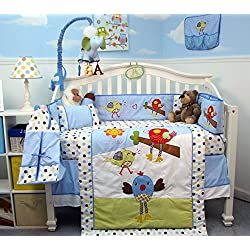 SoHo Chicken Little Party Baby Crib Nursery Bedding Set 14 pcs
