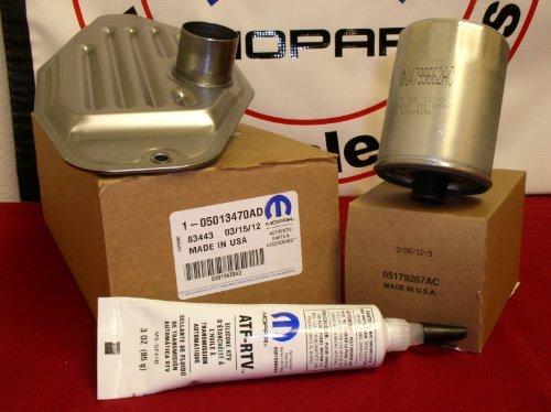 DODGE RAM JEEP 4WD 45RFE 545RFE 68RFE TRANSMISSION TRANS FILTER KIT & SEALER by Mopar (68rfe Transmission Filter compare prices)