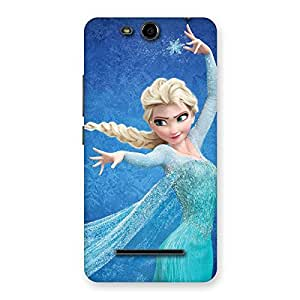Stylish Freezing Princess Multicolor Back Case Cover for Micromax Canvas Juice 3 Q392