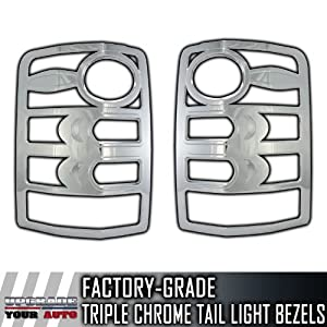2008-2013 Chrome Tail Light Bezels to Perfectly fit Jeep Liberty