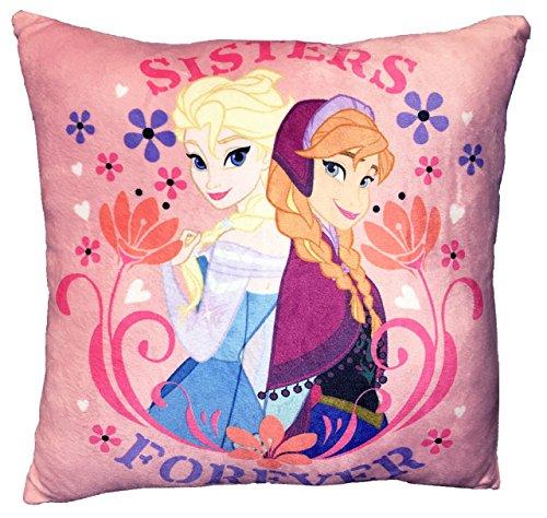 Disney Frozen Anna and Elsa Flowers Decorative Pillow, 11′