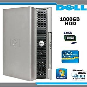 ECO QUIET ULTRA SMALL DELL PC 1000GB H/D 4GB MEMORY DUAL CORE WIN7 WIFI (P4-7)