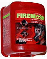 Emergency Escape Mask for Industrial and Urban Survival - Protects for 60 Min Against Smoke, Gas, & Fire Inhalation - By Firemask. Great for Home, Office, Truck, High Rise Buildings. Get Peace of Mind Now!