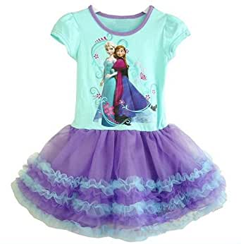 Frozen Dress Girl's Tutu Dress Party Dress, Purple (Size:L,Suitable For Height 120-130 Centimeter)