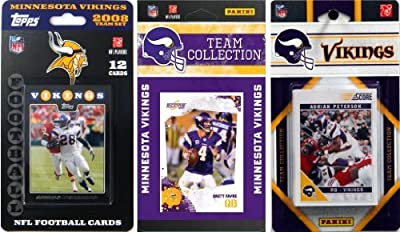NFL Minnesota Vikings 3 Different Licensed Trading Card Team Sets