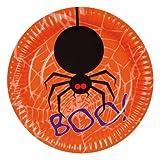 6 Pappteller mit Spinne