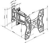 Invision-Ultra-Schlank-TV-Wandhalterung-mit-20-Zoll-Freitragender-Arm-18-Zoll-Wand-Profil-Neig-und-Schwenkbar-fr-die-Meisten-26-bis-60-Zoll-LED-LCD-Plasma-3D-4K-Bildschirme-Inklusive-HDMI-Kabel-HDTV-L