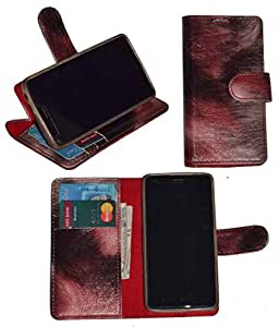 R&A Pu Leather Wallet Flip Case Cover With Card & ID Slots & Magnetic Closure For Samsung Galaxy Core Prime