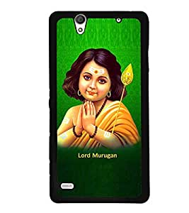 Fuson Premium Lord Murugan Metal Printed with Hard Plastic Back Case Cover for Sony Xperia C4