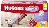 Huggies Little Movers Diapers Junior Pack - Size 5 88ct.