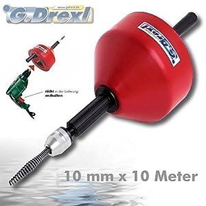 Hand Rohrreinigungsgeräte mit 10 mm Spirale x 10 m  BaumarktKritiken und weitere Infos