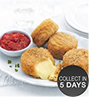 Breaded Camembert with Cranberry & Apple Chutney