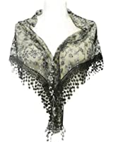 Wrapables Embroidered Floral Lace Triangle Scarf