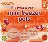 Vital Baby Press n Pop Mini Freezer Pots Orange 1 Ounce 8 Pack by Vital Baby