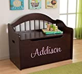 Personalized Premium Edition Toy Box - Espresso