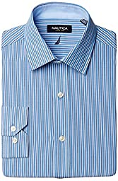 Nautica Men\'s Blue Stripe - Spread, 16 32/33