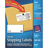 Avery Shipping Labels with TrueBlock Technology, 2x4 inches, White, 250 Labels (8163)