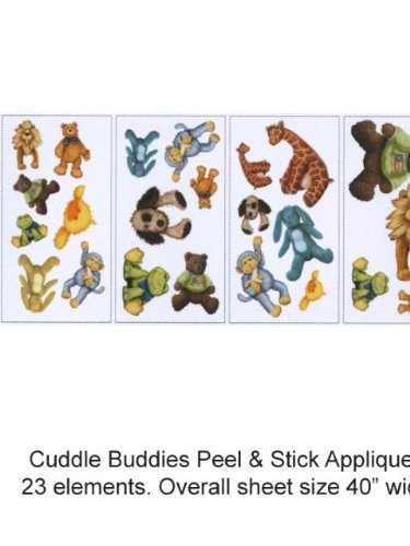 Wallpaper York Brothers And Sisters Volume 4 Cuddle Buddies Peel & Stick Appliques Rmk1023Scs