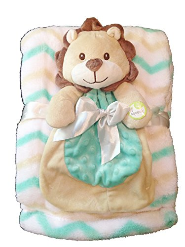 Baby Gear 2-Piece Set With Lion Blankie and Large Matching Blanket
