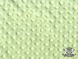 Minky Dimple Dot SAGE Fabric By the Yard