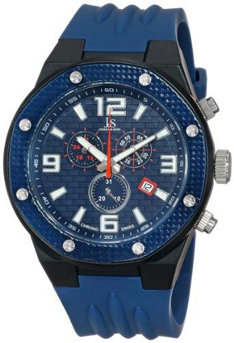 Joshua & Sons Reloj con movimiento cuarzo suizo JS62BU Azul 49  mm