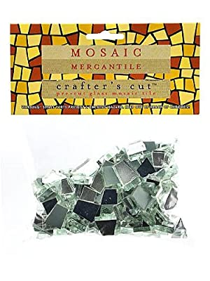 Mosaic Mercantile Crafter'S Cut Classic Mirrors Mosaic Tile, 1/2-Pound by Mosaic Mercantile