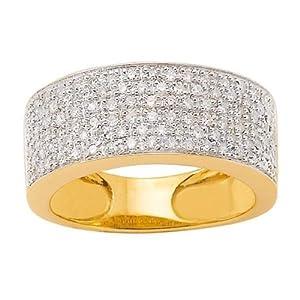 Bague Or jaune - Or 750 Millièmes (18 Carats): 5.85 Gr - Diamant: 0.50 Carat qualité HSI