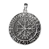 Anhänger Amulett Wikingerkompass Vegvisir 925er Sterling Silber