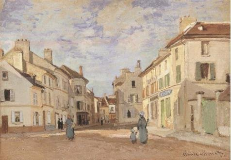The Perfect Effect Canvas Of Oil Painting 'The Old Rue De La Chaussee, Argenteuil, 1872 By Claude Monet' ,size: 16x23 Inch / 41x59 Cm ,this High Definition Art Decorative Canvas Prints Is Fit For Wall Art Decoration And Home Artwork And Gifts