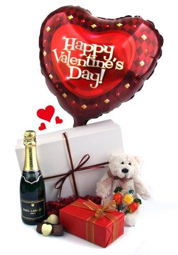 A Valentine's Balloon Teddy & Chocs Gift Box