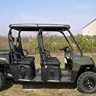 Salient Designs SD602B Plastic Hard Top Standard 2 Pieces For 2008-09 Polaris Ranger Crew