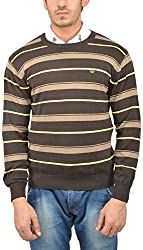 UV&W Men's Cotton Sweater (WSSF02 BROWN, 2XL)