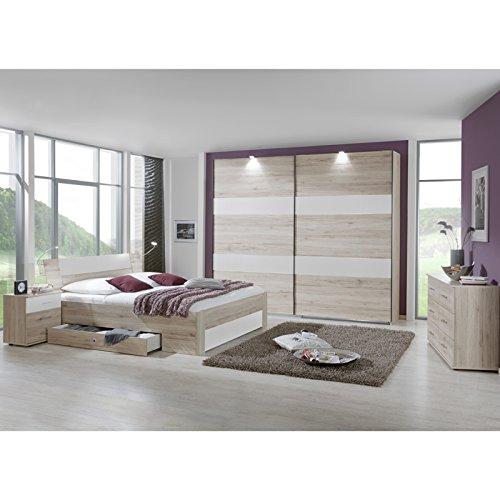 Schlafzimmer Set »YONIE166« San Remo-Eiche, weiß günstig bestellen