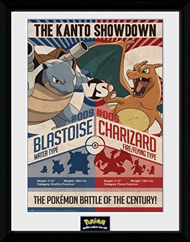 Pokemon - Red V Blue Poster Da Collezione Incorniciato (40 x 30cm)