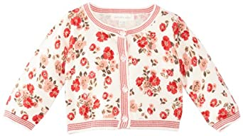 Pumpkin Patch Baby Girls Eastern Treasure Printed Cardigan, Off White (Ivory), 3-6 Months