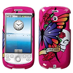 Hard Plastic Snap On Phone Protector Case Best Friend Hot Pink for myTouch 3G