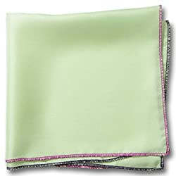 Chokore Twill Silk White line Pocket Square