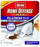 Ortho 0320110 Home Defense Max Kill & Contain Mouse Trap,  Disposable 2-Pack