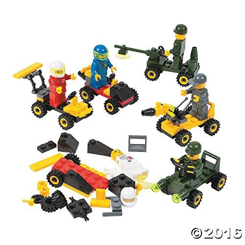 6-Mini-BUILDING-Block-Vehicle-SetsRACE-CarJEEPConstruction-etcParty-FAVORSTOCKING-STUFFERSMotor-Skills