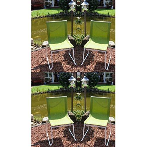 4x Leco Trendmöbel Colorline Stapelstuhl Gartenstuhl Stuhl Garten apfelgrün