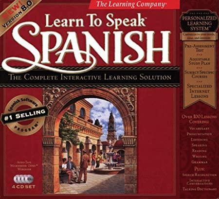 Learn to Speak Spanish: The Complete Interactive Learning Solution (4 CD-ROMs, Version 8.0)