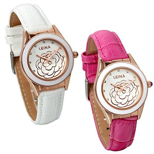 jewelrywe-2pcs-orologio-da-polso-rosa-bianco-ceramica-elegante-dial-fiore-rosa-camelia-con-strass-de