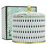 LA JOLIE MUSE White Tea Scented Candles 14Oz Aromatherapy Large Tin Candle 2 Wicks Natural Wax, Gift Candle for Christmas